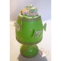 Lampe de chevet verte bébé fille - au cœur des arts