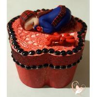 Boîte à dents de lait en forme de fleur bébé garçon Spiderman - au coeur des arts