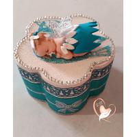 Boîte à dent de lait bébé fille - fée clochette bleue- au coeur des arts