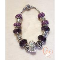 Bracelet Violet parme style pandora