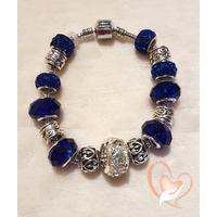 Bracelet bleu dur style pandora