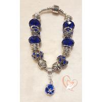 Bracelet argent bleu roi style pandora