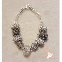 Bracelet style pandora couronnes argent - au cœur des arts