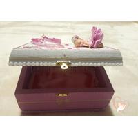 Boîte à trésors ballerine rose et blanche - au coeur des arts