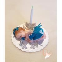 Porte bougie anniversaire fée clochette bleue - au coeur des arts