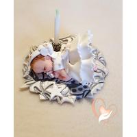Porte bougie anniversaire bébé fille Lys - au coeur des arts