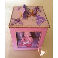1C-Cadre photo rotatif bébé fille- au coeur des arts