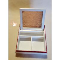 1C-Boîte à trésors rouge et blanche- au coeur des arts