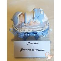 Marque place bébé garçon baptème - au coeur des arts