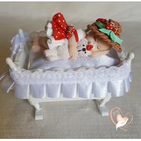 Marque place bébé fille fraise baptême - au coeur des arts