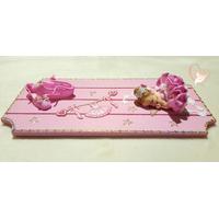 Plaque de porte bébé fille ballerine rose- au coeur des arts