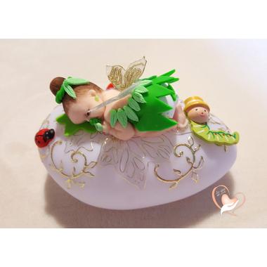 Veilleuse galet lumineux bebe fille fee clochette- au coeur des arts