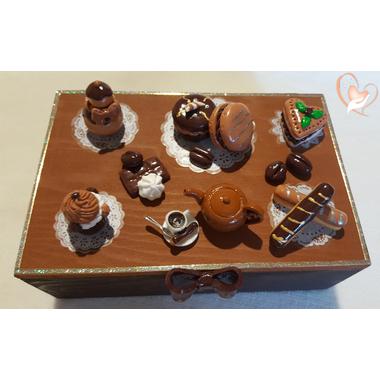 Boîte à sucre ou à biscuits B- au coeur des arts