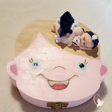 41-au coeur des arts-Boite à dents de lait bebe fille