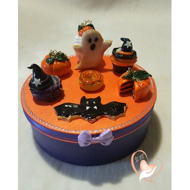 42B-au coeur des arts-Boite à biscuits ou bonbons Halloween