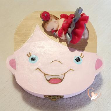 38-au coeur des arts-Boite à dents de lait bebe fille
