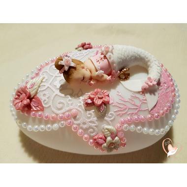70-GMVeilleuse galet lumineux sirène bebe fille - au coeur des arts