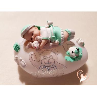 81-au coeur des arts-Veilleuse galet lumineux bebe garcon