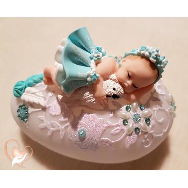 75- au coeur des arts - Veilleuse galet lumineux bebe fille