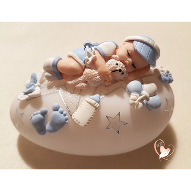 82-au coeur des arts-Veilleuse galet lumineux bebe garcon