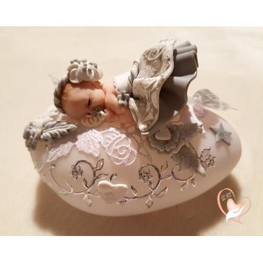 76- au coeur des arts - Veilleuse galet lumineux bebe fille