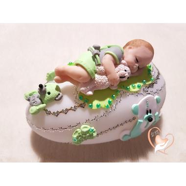 89c-au coeur des arts-Veilleuse galet lumineux bebe garcon