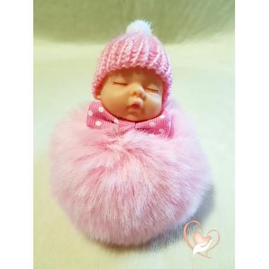 4-au coeur des arts - Bébé porte cles pompon