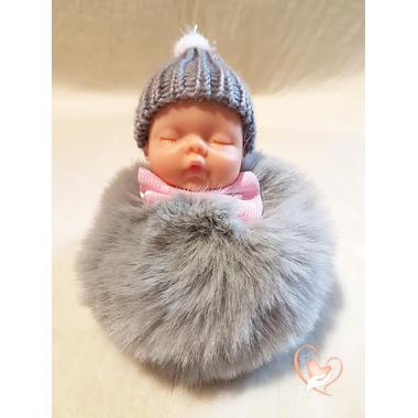 5-au coeur des arts - Bébé porte cles pompon
