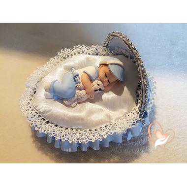 8-au coeur des arts-Veilleuse couffin lumineux bebe garçon-ours