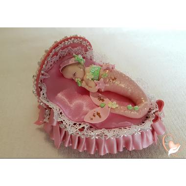 9-au coeur des arts-Veilleuse couffin lumineux bebe sirene fille