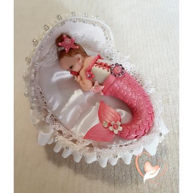 11-au coeur des arts-Veilleuse couffin lumineux bebe fille sirene