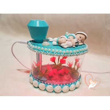 1-au coeur des arts-Veilleuse Aquarium lumineux bebe garçon