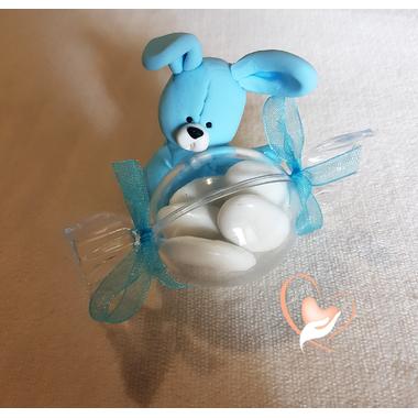 3-au coeur des arts-bonbonniere-boite a dragees-lapin bleu
