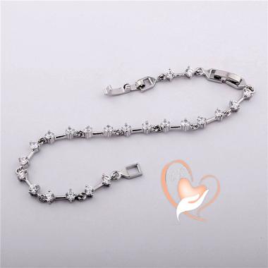 106- au coeur des arts -bracelet plaqué argent multi zircon