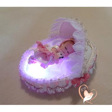 14B-au coeur des arts-Veilleuse couffin lumineux bebe fille
