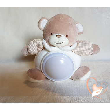 3-au coeur des arts-Veilleuse enfant ours en peluche