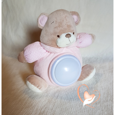 2D-au coeur des arts-Veilleuse enfant ours en peluche