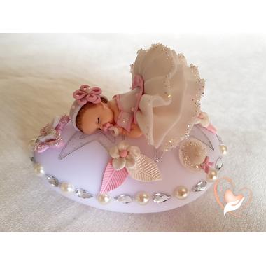 99D-au coeur des arts-Veilleuse galet lumineux bebe fille