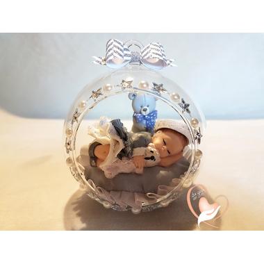 BV19-au coeur des arts-Enfant-bébé fille et ours dans sa bulle