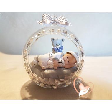 BV20-au coeur des arts-Enfant-bébé fille et ours dans sa bulle