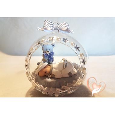 BV3-au coeur des arts-Enfant-bébé garcon et ours dans sa bulle
