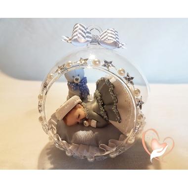 BV18-au coeur des arts-Enfant-bébé fille et ours dans sa bulle