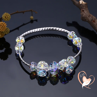 119-au-coeur-des-arts-bracelet perles cristal argent