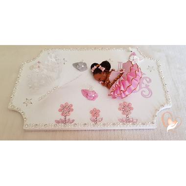25-au coeur des arts-plaque de porte bébé fille