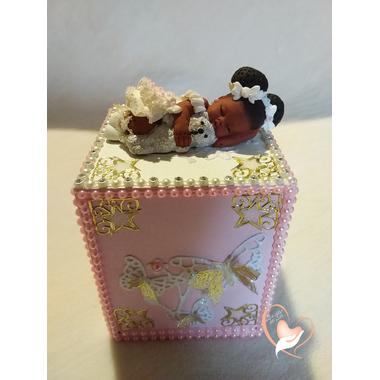 50B-au coeur des arts-tirelire bebe fille et son ours