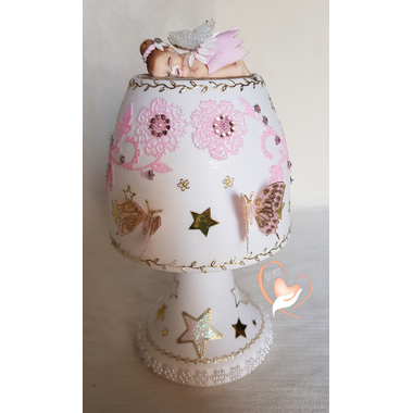139C-au coeur des arts-Veilleuse lampe lumineuse bebe fee clochette
