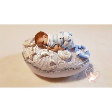 131-au coeur des arts-Veilleuse galet lumineux bebe garçon