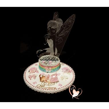 1A2-au coeur des arts-Veilleuse sur socle en bois bebe fée clochette