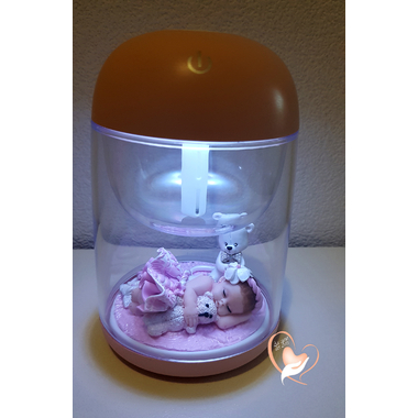 15B-Veilleuse Humidificateur lumineux bébé fille - au coeur des arts