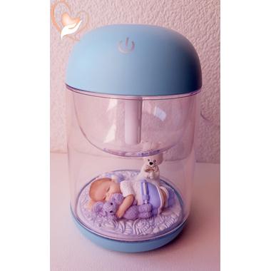 4-Humidificateur lumineux bébé garçon et son lapin- au coeur des arts
